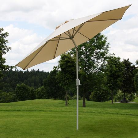 Alu Sonnenschirm Gartenschirm N18 270cm rostfrei ~ creme