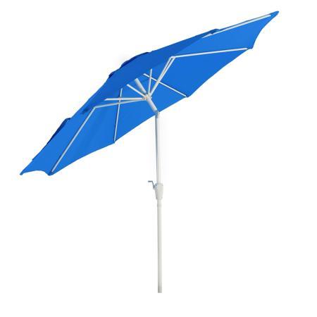 Alu Sonnenschirm Gartenschirm N19 300cm, neigbar, rostfrei blau