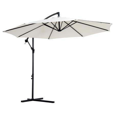 Ampelschirm Sonnenschirm ∅300cm mit Handkurbel creme