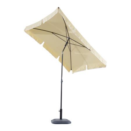 Sonnenschirm rechteckig L200 x B125 neigbar - creme