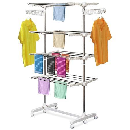 Mobiler Wäscheständer klappbar mit 4 Ebenen