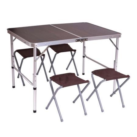 Campingtisch + 4 Stühle 67x100x70cm