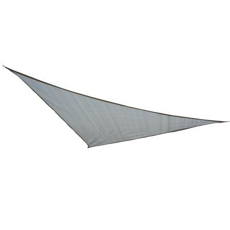 Sonnensegel 3x3m dreieckig 185g/m² HDPE grau