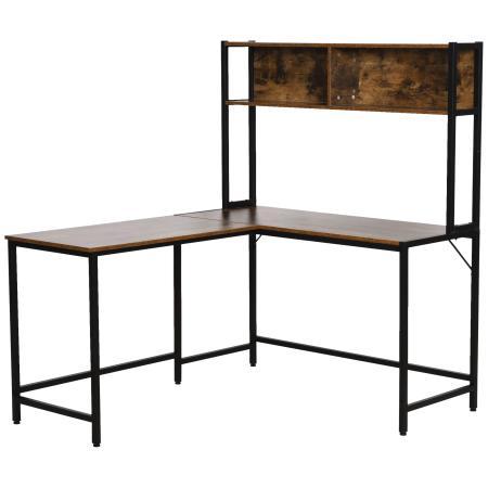 Eck-Schreibtisch mit extra Bücherregal 140x125cm
