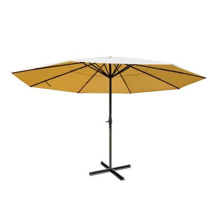 Alu-Sonnenschirm Meran Pro ohne Volant Ø 5m ~ creme