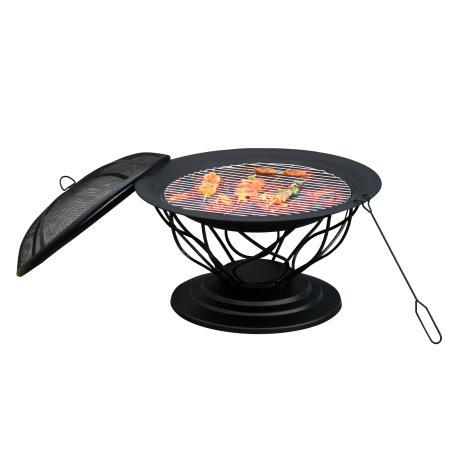 Feuerschale Feuerkorb mit Grill und Funkenschutz Ø 75cm
