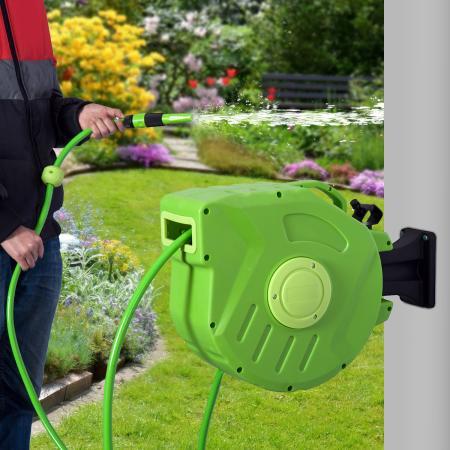 Gartenschlauch Schlauchtrommel Automatik 15m Schlauchaufroller