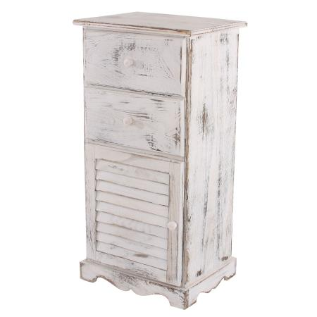 Kommode 81x40x32cm Shabby-Look Vintage ~ weiss