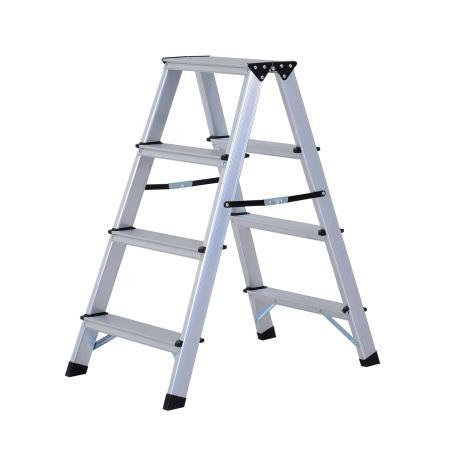 Alu Trittleiter 2 x 4 Stufen Leiter Rutschfest