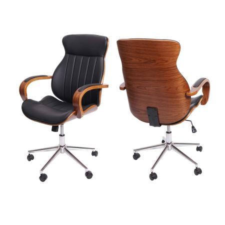 Bürostuhl Schreibtischstuhl Bugholz ~ schwarz