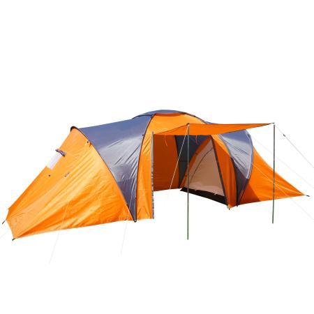 Campingzelt Igluzelt Loksa für 6 Personen ~ orange