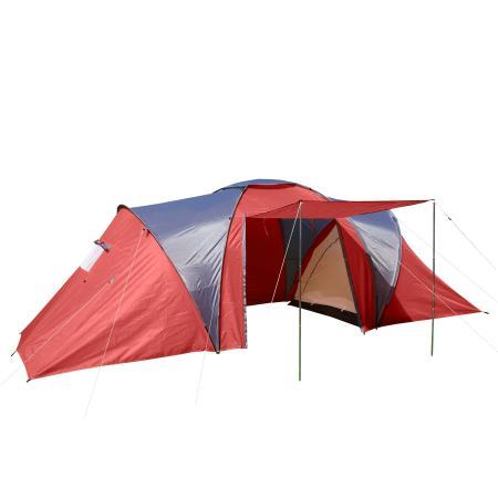 Campingzelt Igluzelt Loksa für 6 Personen ~ rot
