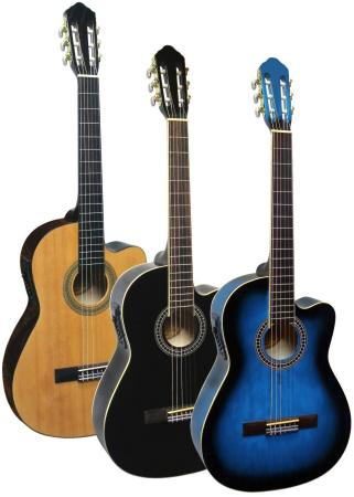 Klassische Gitarre mit Tonabnehmer 4 Band EQ & Cutaway