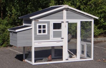 Kaninchenstall 2-3 Hasen Niels Kunststoff Dach und Auslauf