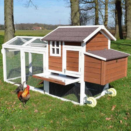 Mobiler Hühnerstall Hühnerhaus mit Freilaufgehege