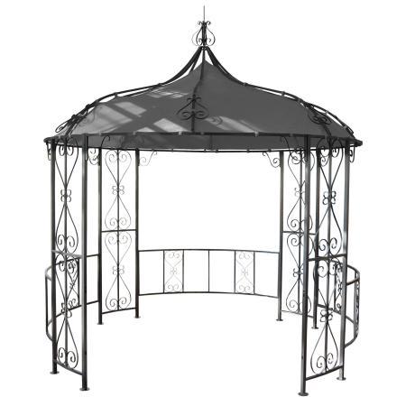 Pergola Almeria Garten Pavillon stabiles Stahl-Gestell Ø 3m