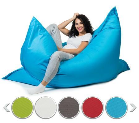 Sitzsack Sitzkissen Beanbag ~ 100x150 himmelblau