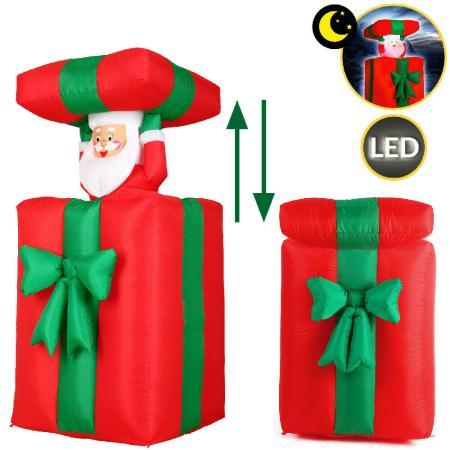 Weihnachtsmann aufblasbar 152cm im Geschenk