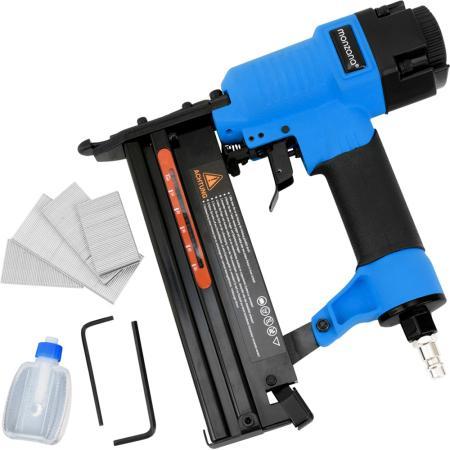2in1 Druckluft-Nagler und Tacker + Koffer + Nägel + Sechskant + Öl