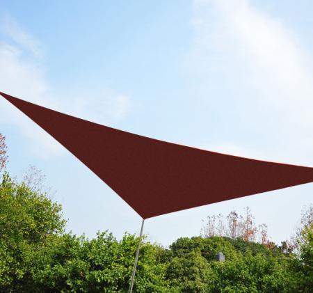 Sonnensegel 3x3m dreieckig 185g/m² HDPE Rostrot