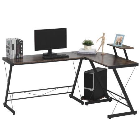 Eck-Schreibtisch Computertisch Metall 155x115cm