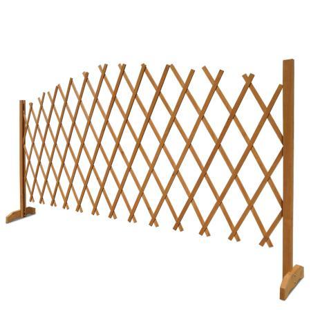 Rankhilfe Absperrgitter Tierschutzgitter Holz - 180 x 107 cm braun