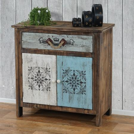 Kommode Funchal Shabby-Look Vintage 84x80x40cm