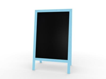 XL Kundenstopper Werbetafel 118x61cm  Kreidetafel Blau