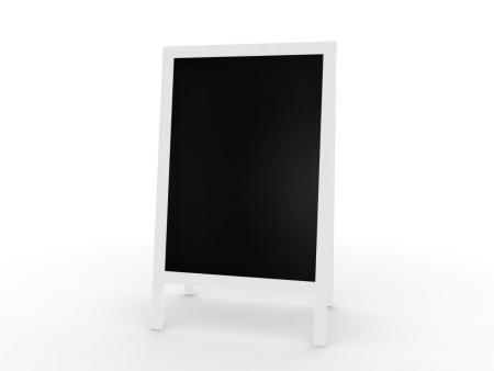 XL Kundenstopper Werbetafel 118x61cm  Kreidetafel Grau