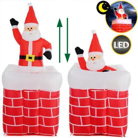 Weihnachtsmann aufblasbar 178cm im Kamin