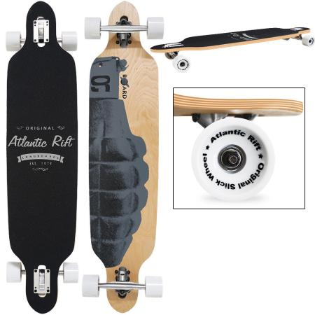 LONGBOARD Skateboard ~ WAR ORIGINAL Atlantic Rift