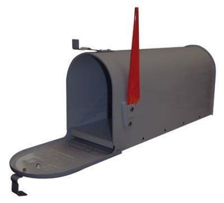Briefkasten american mailbox anthrazit for American briefkasten