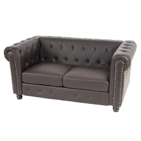 Chesterfield Lounge 2er Sofa Couch Runde F Sse