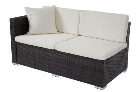 poly rattan rom basic sitzgruppe lounge set alu braun meliert. Black Bedroom Furniture Sets. Home Design Ideas
