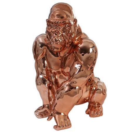 Deko figur gorilla kupfer for Kupfer deko