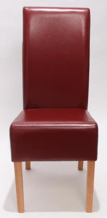 2x esszimmerstuhl leder rot helle beine - Esszimmerstuhl rot ...