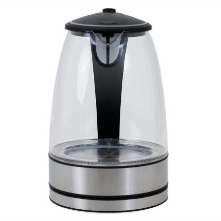 led wasserkocher glas edelstahl 2200 watt. Black Bedroom Furniture Sets. Home Design Ideas