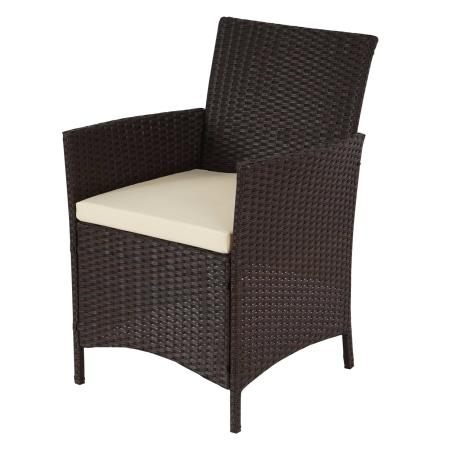 poly rattan garten garnitur halden sitzgruppe braun meliert. Black Bedroom Furniture Sets. Home Design Ideas