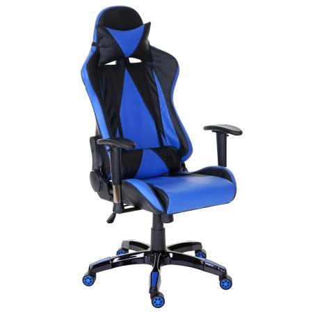 profi b rostuhl racing t682 xxl 150kg belastbar kunstleder blau. Black Bedroom Furniture Sets. Home Design Ideas