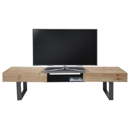 tv rack hwc fernsehtisch tanne holz 46x180x41cm. Black Bedroom Furniture Sets. Home Design Ideas