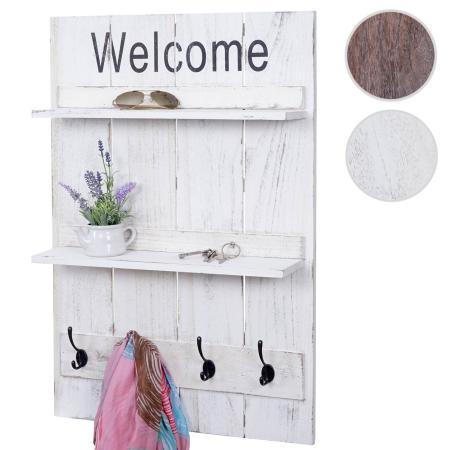 wandgarderobe shabby mit ablage 90x60cm. Black Bedroom Furniture Sets. Home Design Ideas