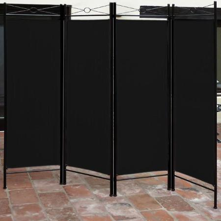 paravent raumteiler schwarz. Black Bedroom Furniture Sets. Home Design Ideas