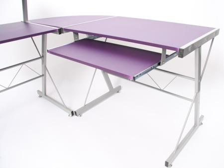 Schreibtisch b rotisch mit ablage lila for Schreibtische jugendschreibtisch