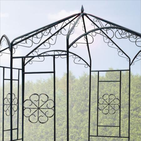 gartenpavillon aus metall ideal auch als rosenbogen. Black Bedroom Furniture Sets. Home Design Ideas
