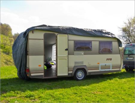 wohnwagen schutzh lle wohnwagenplane 610x225x220cm. Black Bedroom Furniture Sets. Home Design Ideas