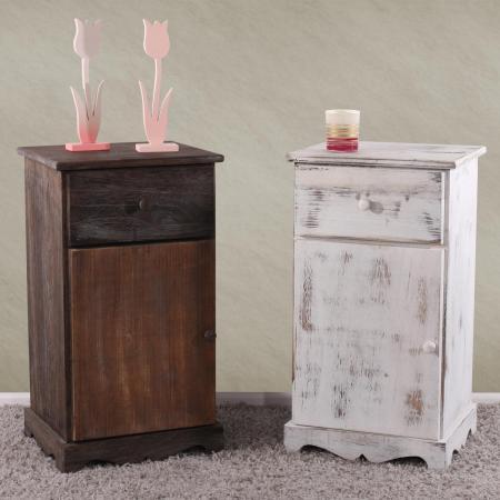 kommode shabby look vintage braun. Black Bedroom Furniture Sets. Home Design Ideas