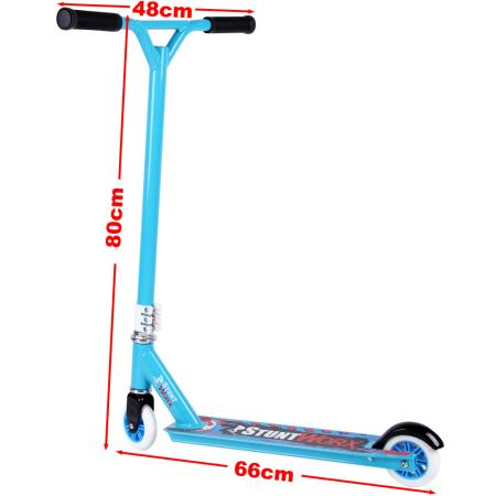 kickboard stunt scooter cityroller blau. Black Bedroom Furniture Sets. Home Design Ideas