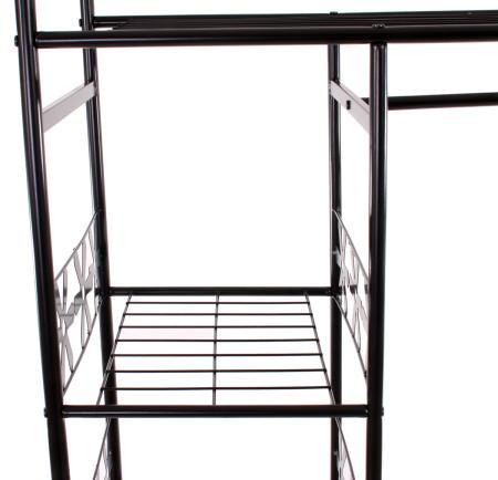 metall garderobe genf 172x100x43cm mit vorhang. Black Bedroom Furniture Sets. Home Design Ideas