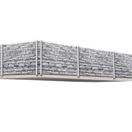 Balkonsichtschutz 5m Stein Motiv Jamb Ch