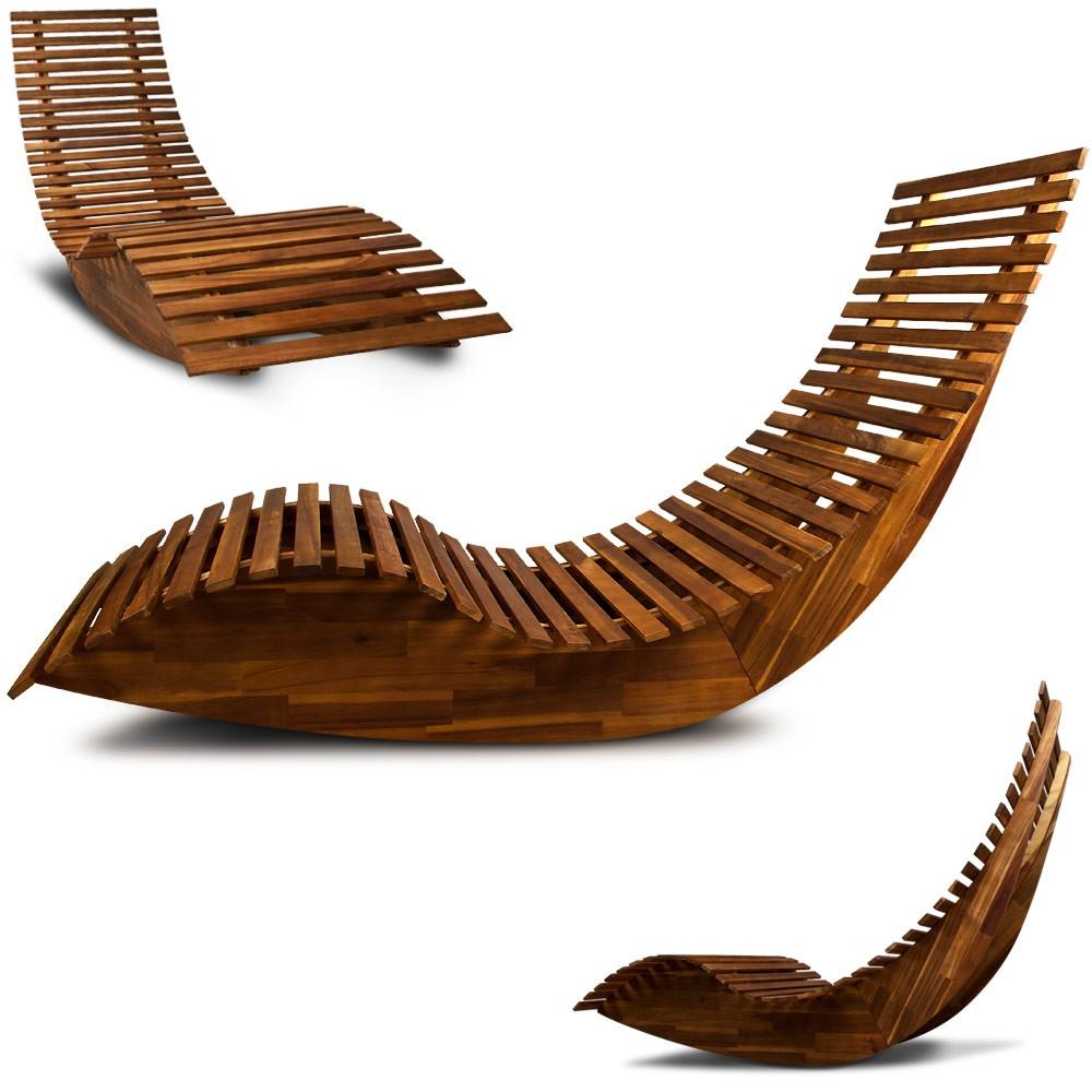 Schwungliege liegestuhl aus akazienholz - Schwungliege holz ...